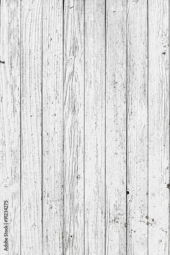 Tuinposter Hout Vintage White Wood Wall