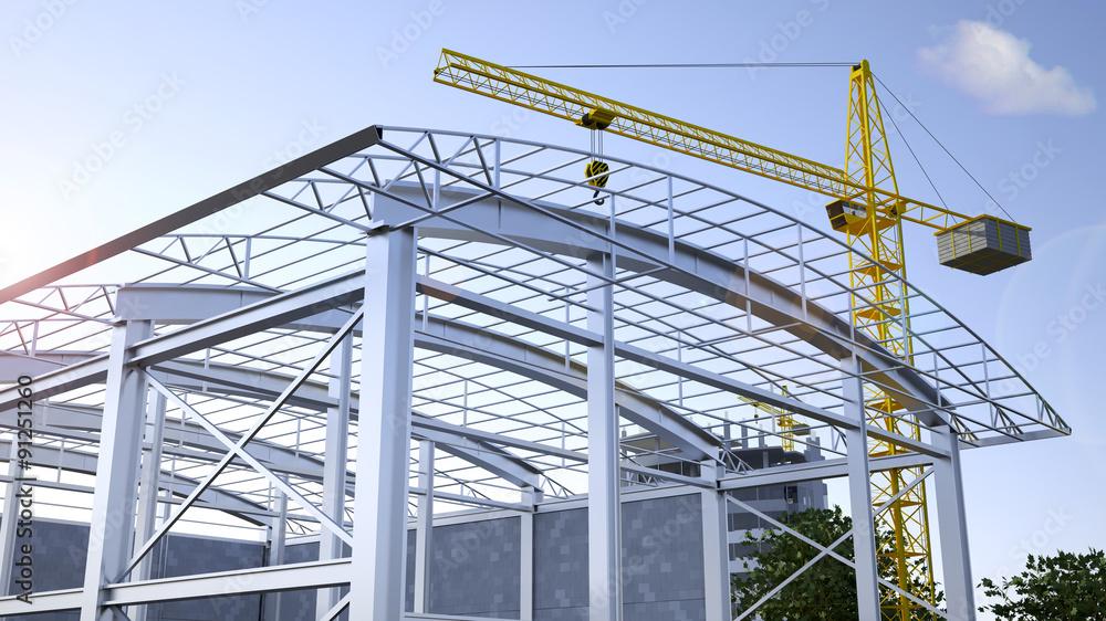 Fototapeta Steel construction