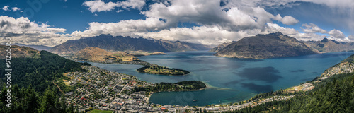 Photo sur Toile Nouvelle Zélande Queenstown Panorama Ausblick