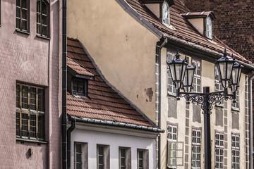 Medieval street in the old Riga city, Latvia