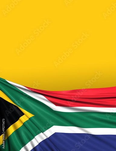 South African Flag, S.Africa Background