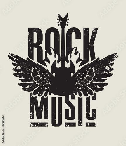 Fototapeta Muzyki rockowa z gitarą elektryczną