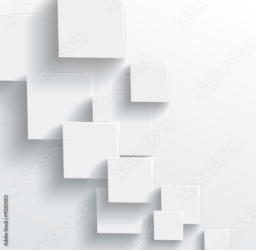 Photo Vector Abstract geometric shape from gray cubes. White squares