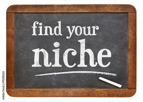 Photo Find your niche advice on blackboard