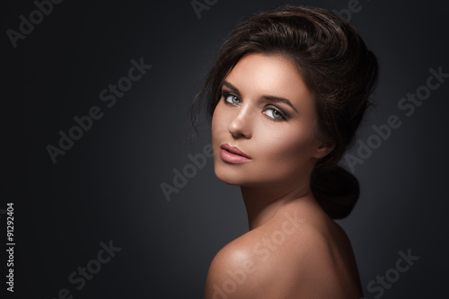 Fotografie, Obraz  Žena s krásným make-up