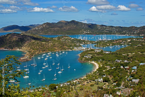 English Harbor Antigua Wallpaper Mural
