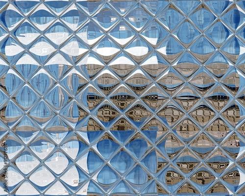 fototapeta na drzwi i meble Mirrored Glass Reflection Background Texture