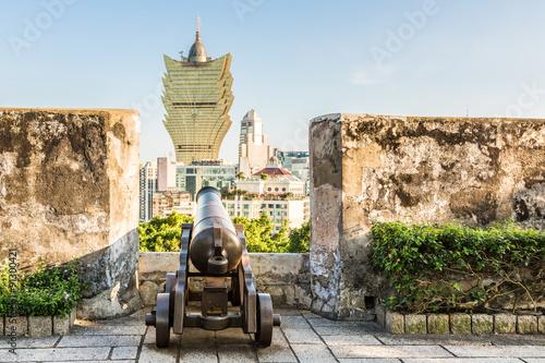 Fotografía  Macau fortaleza y casinos