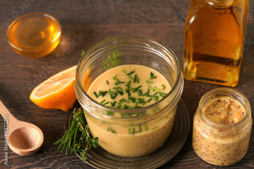 Photo  Homemade honey mustard dressing