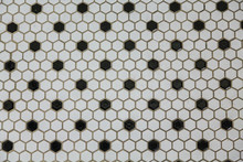 Black And White Mosaic Tile For Background