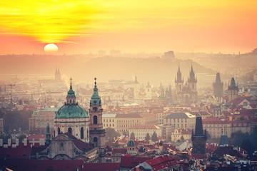 Naklejka Prague at the sunrise
