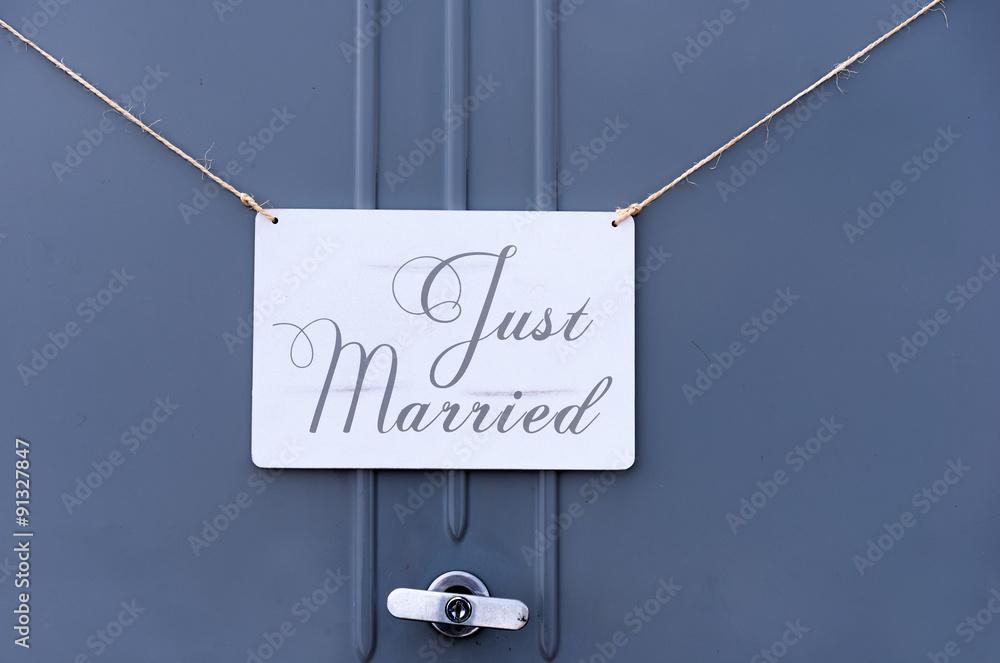 Fotografia just married