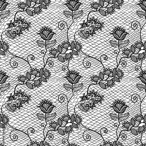 Valokuva  seamless lace pattern