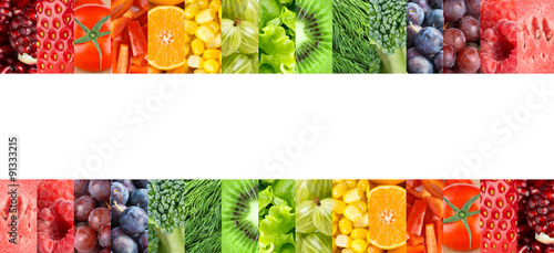 Fresh fruits and vegetables © seralex
