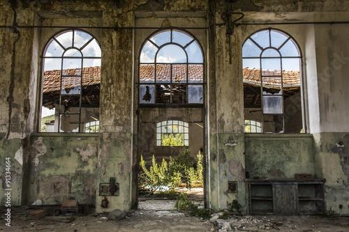 Foto op Aluminium Rudnes La fabbrica abbandonata