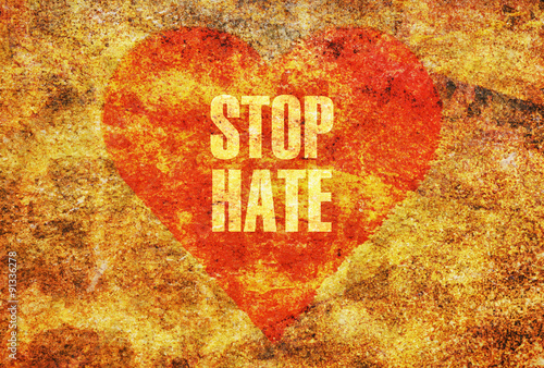 Stop hate Canvas Print