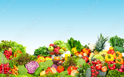 Fresh vegetables and fruits. Canvas Print