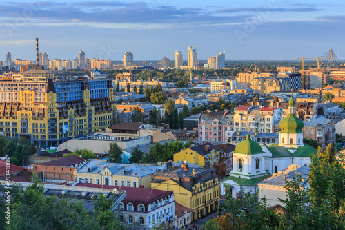 Canvas Prints Kiev Kyiv city from the Castle Hill