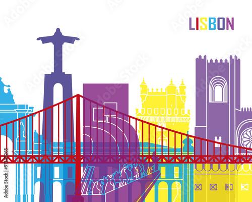 graficzna-ilustracja-lizbona-i-czerwony-most-wektor