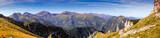 Panorama Tatr z Czerwonych Wierchów
