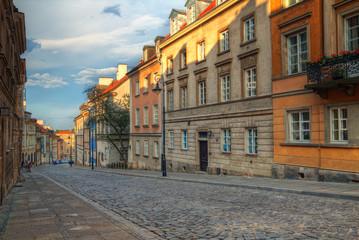 Obraz na SzkleWarszawskie kamienice
