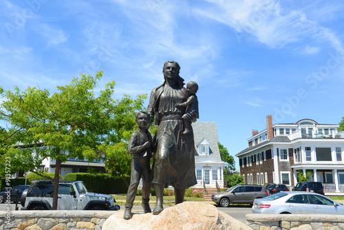 Obraz na plátně Gloucester Fisherman's Wives Memorial located near the entrance of Gloucester, Massachusetts, USA