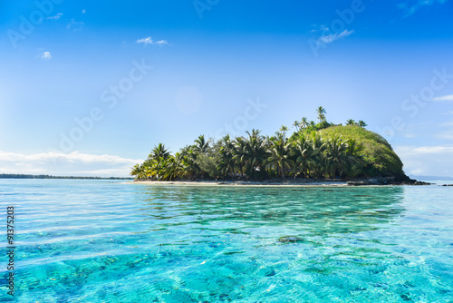 Tuinposter Eiland Piccola isola deserta Bora Bora