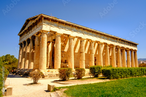 Photo Scenic view of temple of Hephaestus in Ancient Agora, Athens