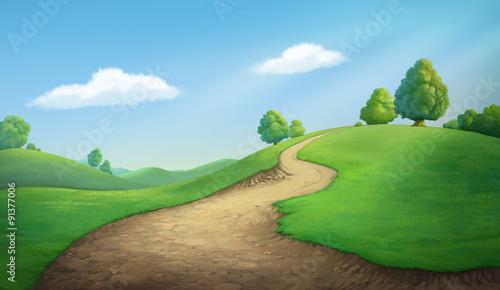 Canvas Prints Blue Beautiful hill