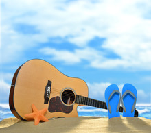Acoustic Guitar And Flip Flops...