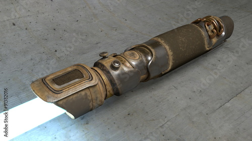 Fotografie, Tablou  Worn Rusty Vintage Lightsaber