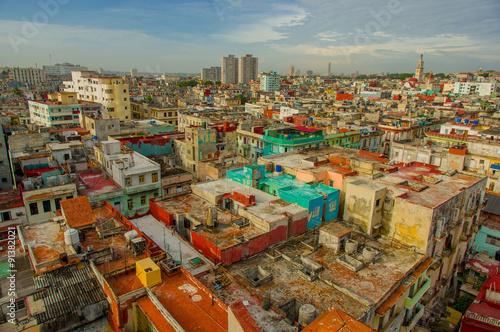 Staande foto Havana Panorama of Havana city Vedado District