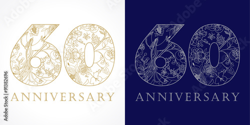 Poster  60 anniversary vintage logo