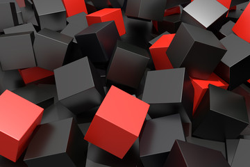fototapeta 3D kolorowe kostki