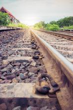Rural Railroad Tracks Vintage
