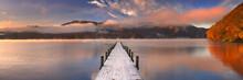 Jetty In Lake Chuzenji, Japan ...