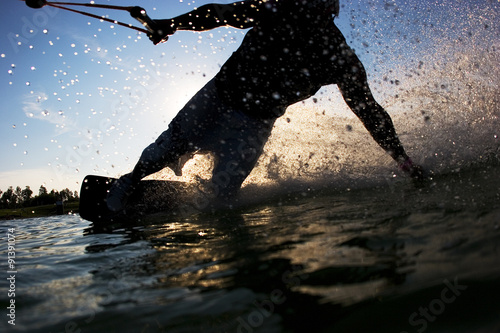 Wakeboard Jump Canvas Print