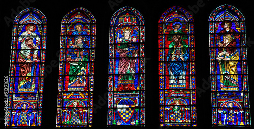 Fotografie, Obraz  Stained Glass at Chartres Cathedral