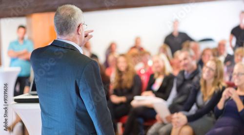 Fotografie, Obraz  Businessman making a business presentation.