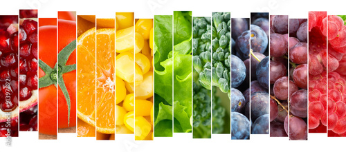 Poster Fruit Fruits and vegetables concept