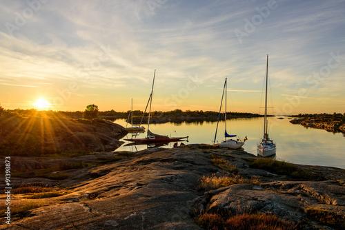 Archipelago sunset Canvas Print