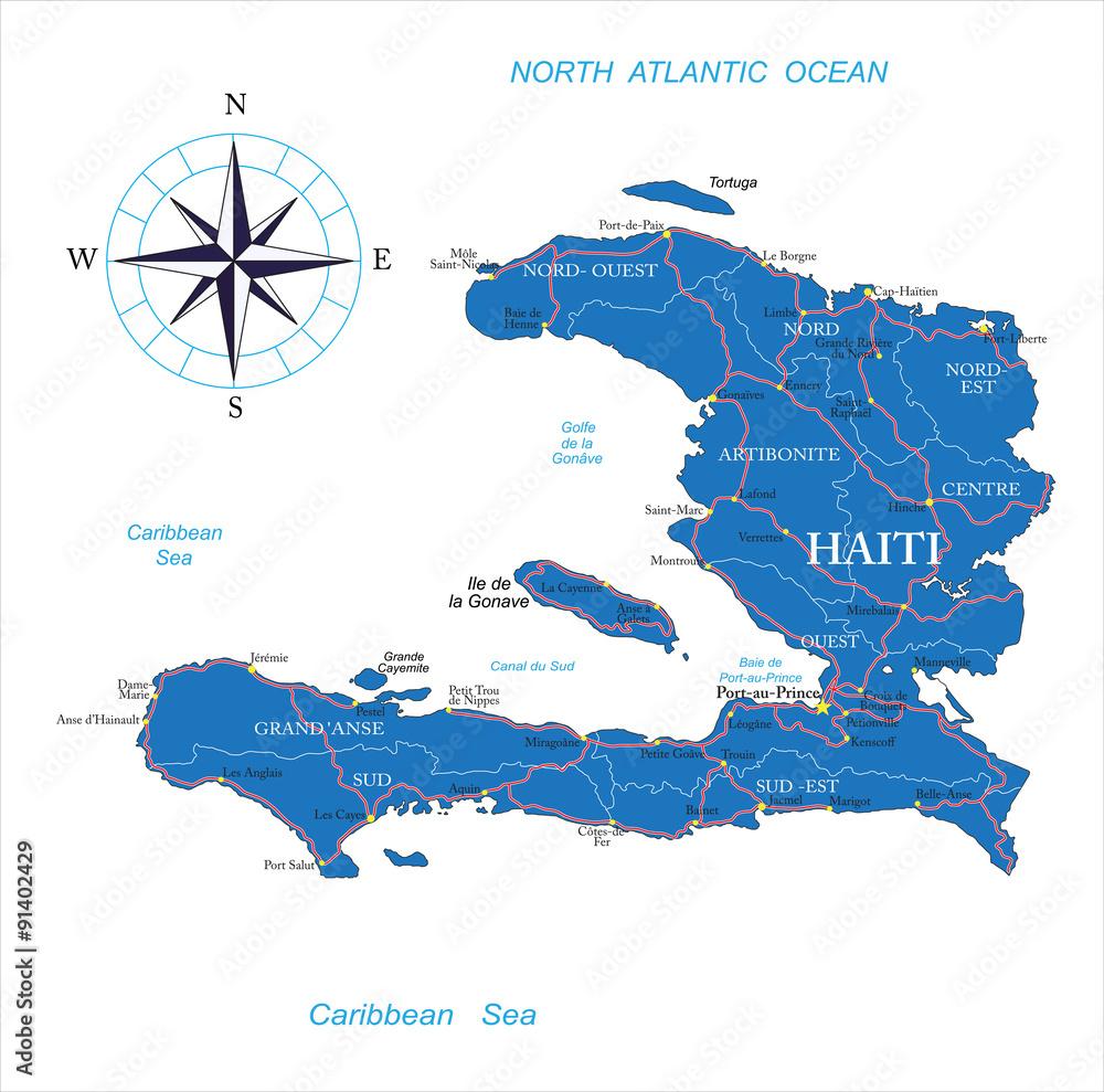 Haiti map Foto, Poster, Wandbilder bei EuroPosters