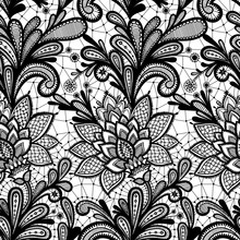 Seamless Lace Floral Pattern.