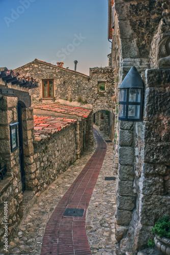 Spoed Foto op Canvas Zuid-Amerika land Small street in Eze village France