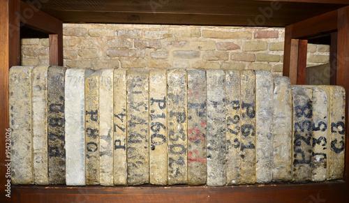 Antiguas Planchas De Piedra Caliza Para Impresión