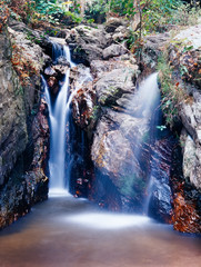 Panel Szklany Wodospad Trai Trueng Falls, Kanchanaburi province, Thailand