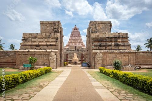Ancient Hindu Shiva temple built in 11th century in Tamil Nadu, India