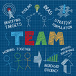 TEAM Vector Sketch Notes on blue background