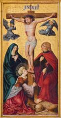 Fototapeta Do kościoła Neuberg and der Murz - paint of Crucifixion (1505)