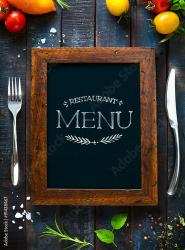 Fotobehang Restaurant Cafe menu restaurant brochure. Food design template